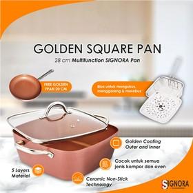 Signora Golden Square Pan