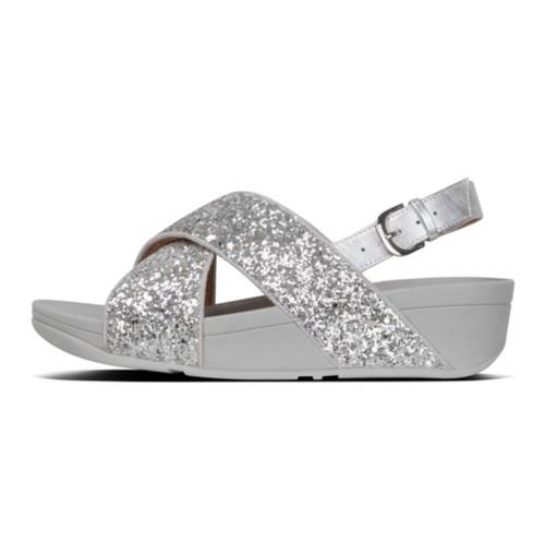 Fitflop Lulu Glitter Back-Strap Women Sandal - Silver