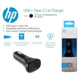 HP car charger type-c + usb