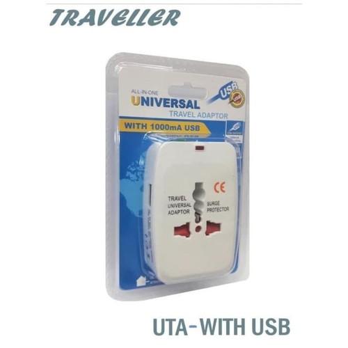 Mediatech Universal Travel Adaptor UTA-03 USB 1A Putih - 630001