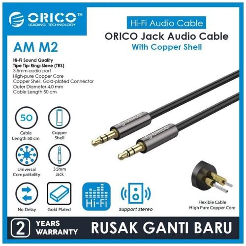 ORICO AUX Copper Shell 3.5mm Audio Extension Cable - 50 cm - AM-M2-05