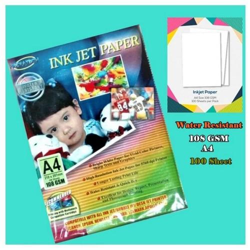 Mediatech Inkjet Paper / Ink Jet Paper A4 108 GSM 100 Sheet ( 30001 )