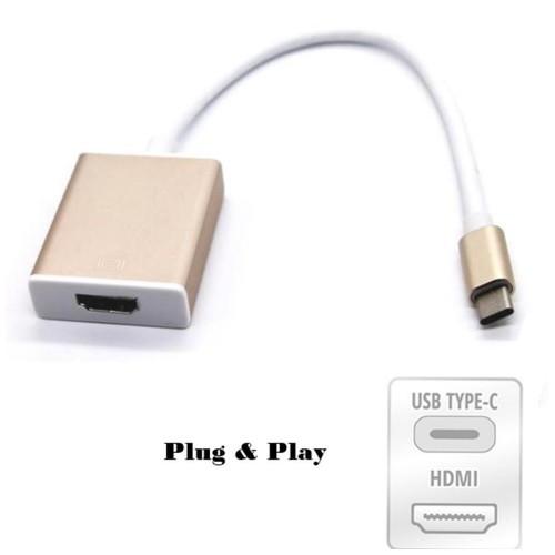 Kabel USB 3.1 Type C To HDMI Converter / Type-C To HDMI - Emas