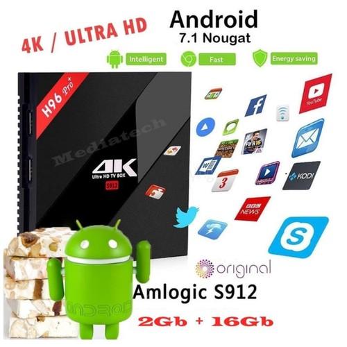 Android Tv Box H96 Pro Plus,S912,Octacore 2GB / 16GB 4K (46022)