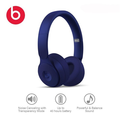 Beats Solo Pro Wireless Noise Cancelling On-Ear Headphones - Dark Blue