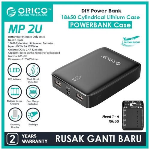ORICO DIY Powerbank Case / Module 5V 2.4A 12WATT - MP-2U