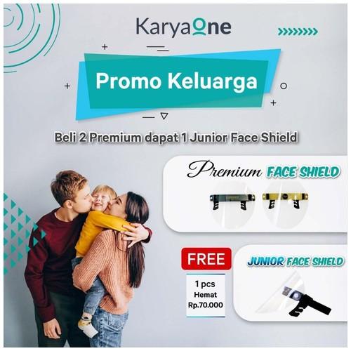KaryaOne Promo 2 Face Shield Dewasa Gratis 1 Face Shield Anak