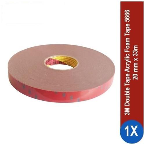 3M AFT Acrylic Foam Tape 5666, tebal: 1.1 mm, size: 20 mm x 33 m (Double Tape Mobil)