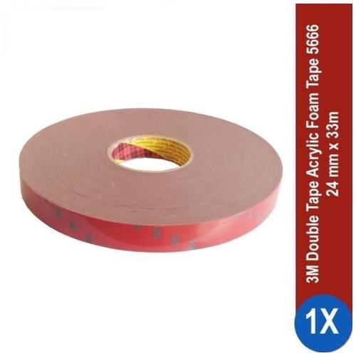 3M AFT Acrylic Foam Tape 5666, tebal: 1.1 mm, size: 24 mm x 33 m (Double Tape Mobil)