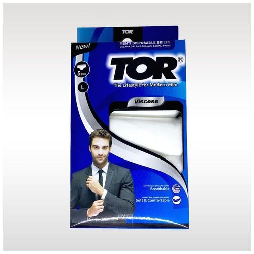 Tor Disposable Viscose Men Celana Dalam Pria [L]