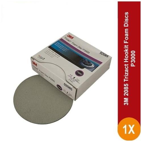 3M 2085 Trizact Hookit Foam Discs P3000 (15 pcs/Box) - Amplas Mobil