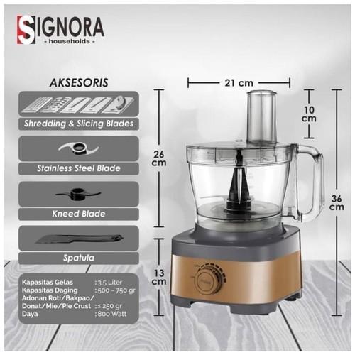 Signora Food Processor Pro Tanpa Cubic Cutter (SURABAYA)