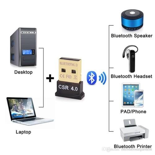 Usb Bluetooth 4.0 CSR Dongle Transfer File PC Laptop Komputer
