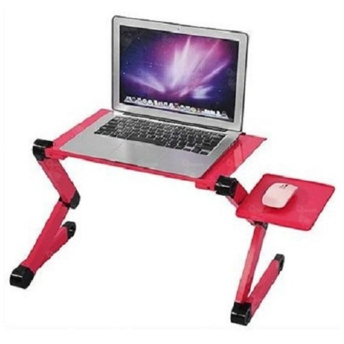 Laptop Desk / Foldable Laptop Table / Meja Laptop Multi Function - Merah