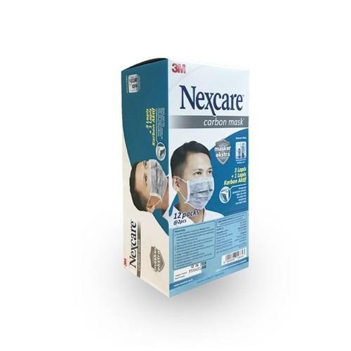 3M Masker Nexcare Extra Carbon Mask 4 Ply - 1 Box [24 Masker]