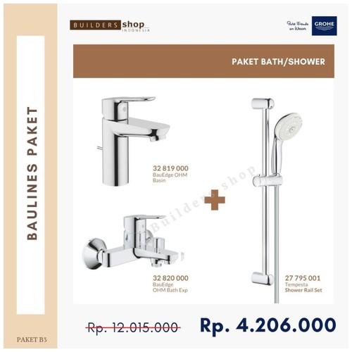 GROHE - Baulines Paket 3 (Kran Basin+Shower Set+Kran Bath/Shower)