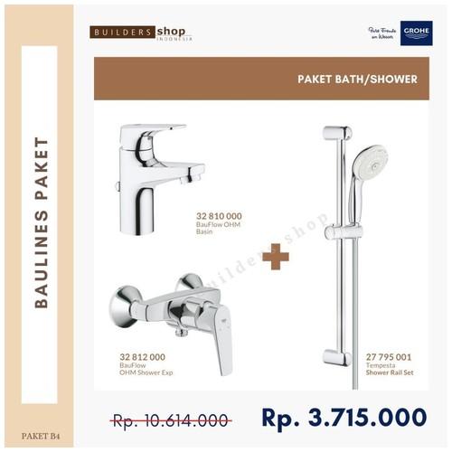 Grohe - Baulines Paket 4 (Kran Basin+Shower Set+Kran Mixer Shower)