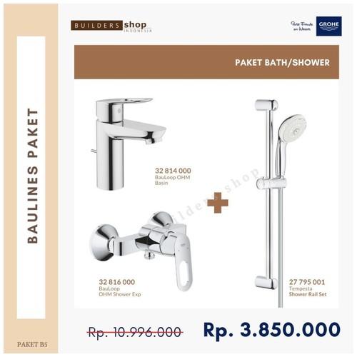 Grohe - Baulines Paket 5 (Kran Basin+Shower Set+Kran Mixer Shower)
