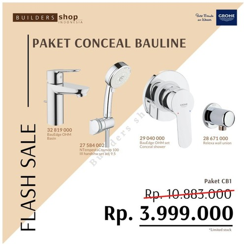 GROHE FLASH SALE - Paket Conceal Bauline 1