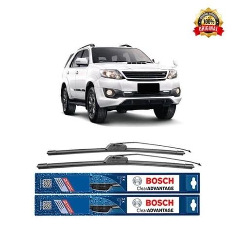Bosch Sepasang Wiper Mobil Toyota Fortuner Frameless New Clear 21 & 19