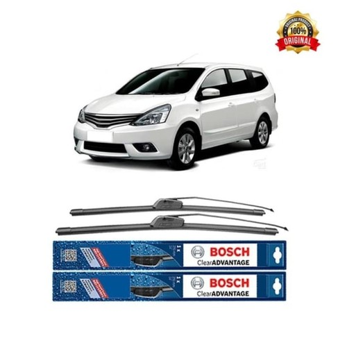 Bosch Sepasang Wiper Kaca Mobil Nissan Grand Livina Advantage 24