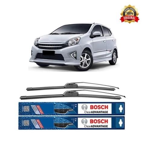 Bosch Sepasang Wiper Mobil Toyota Agya Frameless New Clear 20