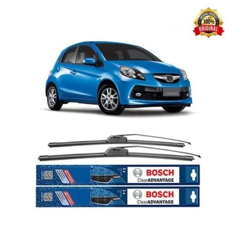 Bosch Sepasang Wiper Mobil Honda Brio Frameless New Clear 22