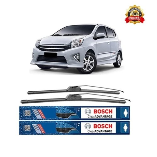 Bosch Sepasang Wiper Kaca Mobil Toyota Agya Advantage 20