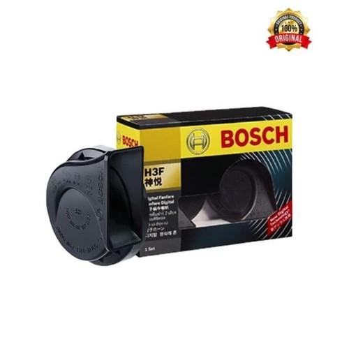 Bosch Klakson H3F Digital Fanfare (Keong) Black 12V Set -Klakson Bunyi