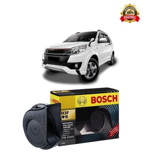 Bosch Klakson Mobil Toyota Rush H3F Digital Fanfare (Keong) Black 12V