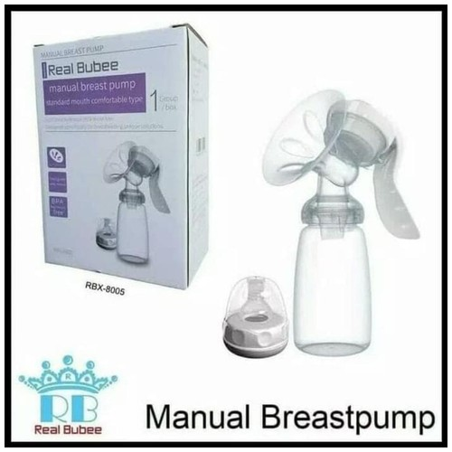 Real Bubee Pompa ASI Manual Breast Pump Powerful Nipple Suction Pumps 150ml