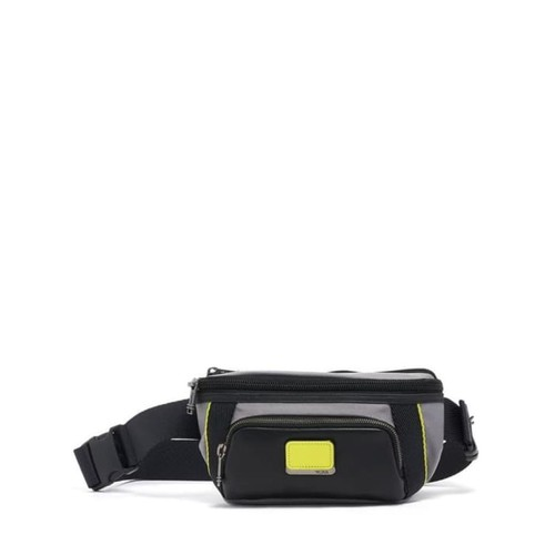 TUMI Alpha Bravo Campbell Utility Pouch - Grey/Bright Lime