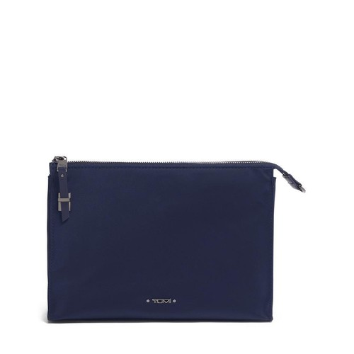 TUMI Voyageur Basel Small Triangle Pouch - Midnight