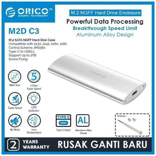 ORICO M.2 SATA to Type-C SSD Enclosure Aluminum Alloy - M2D-C3