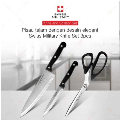 SWISS MILITARY KNIFE SET 3 PCS