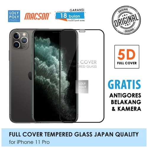 LOLYPOLY Full Cover Tempered Glass iPhone 11 Pro JAPAN Quality 5D