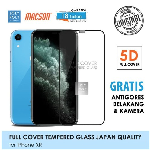 LOLYPOLY Full Cover Tempered Glass iPhone XR JAPAN Quality 5D