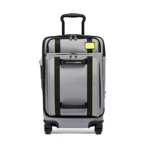 TUMI Merge International Front Lid 4 Wheel Carry-On - Grey Bright Lime