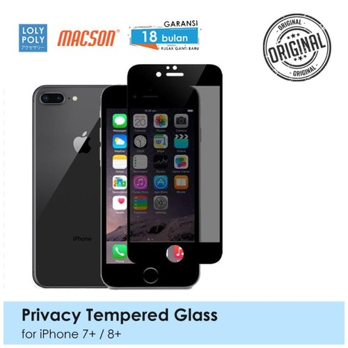 LOLYPOLY Full Cover Tempered Glass Privacy iPhone 7 Plus Japan Quality