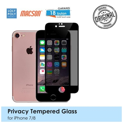 LOLYPOLY Full Cover Tempered Glass Privacy iPhone 7 / 8 Japan Quality