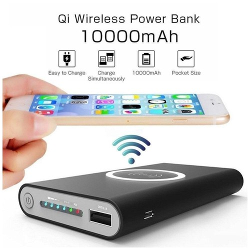 2in1 Power Bank 10000mAh & Wireless Charger