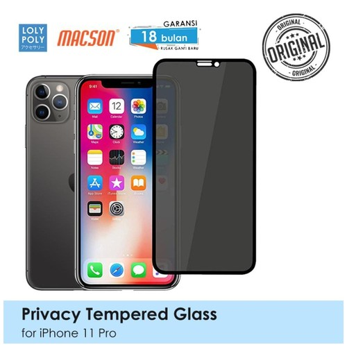 LOLYPOLY Full Cover Tempered Glass Privacy iPhone 11 Pro Japan Quality