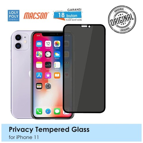 LOLYPOLY Full Cover Tempered Glass Privacy iPhone 11 Japan Quality