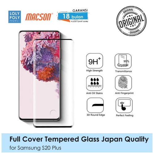 LOLYPOLY Full Cover Tempered Glass Samsung S20 Plus Japan High Quality