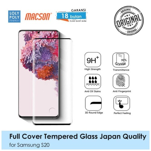 LOLYPOLY Full Cover Tempered Glass Samsung S20 Japan High Quality