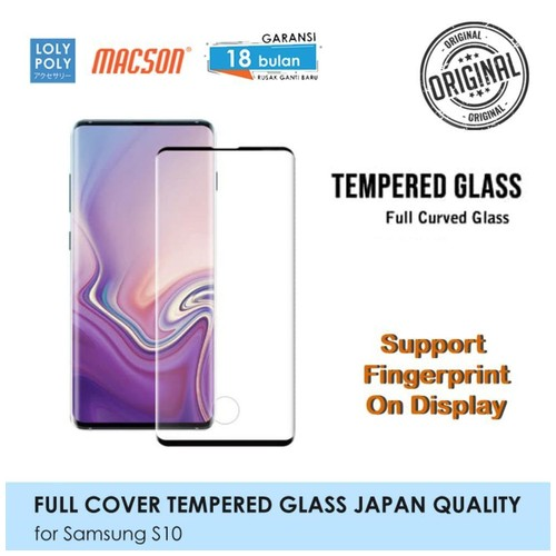 LOLYPOLY Full Cover Tempered Glass Samsung S10 Japan High Quality