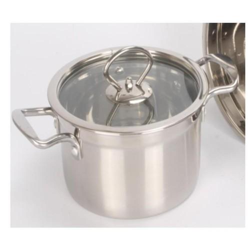 Panci Soup Stainless Steel 20cm MasterChef + Penutup Kaca