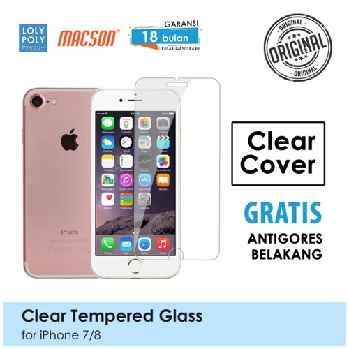 LOLYPOLY Clear Tempered Glass Premium iPhone 7 / 8 Japan Quality 3D