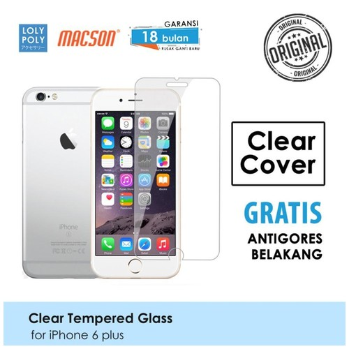 LOLYPOLY Clear Tempered Glass Premium iPhone 6 Plus Japan Quality 3D
