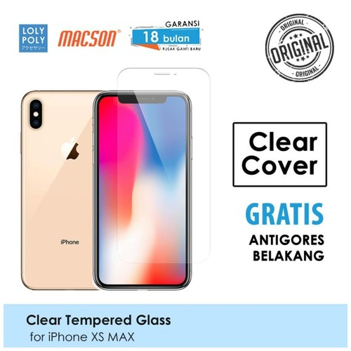 LOLYPOLY Clear Tempered Glass Premium iPhone XS Max Japan Quality 3D